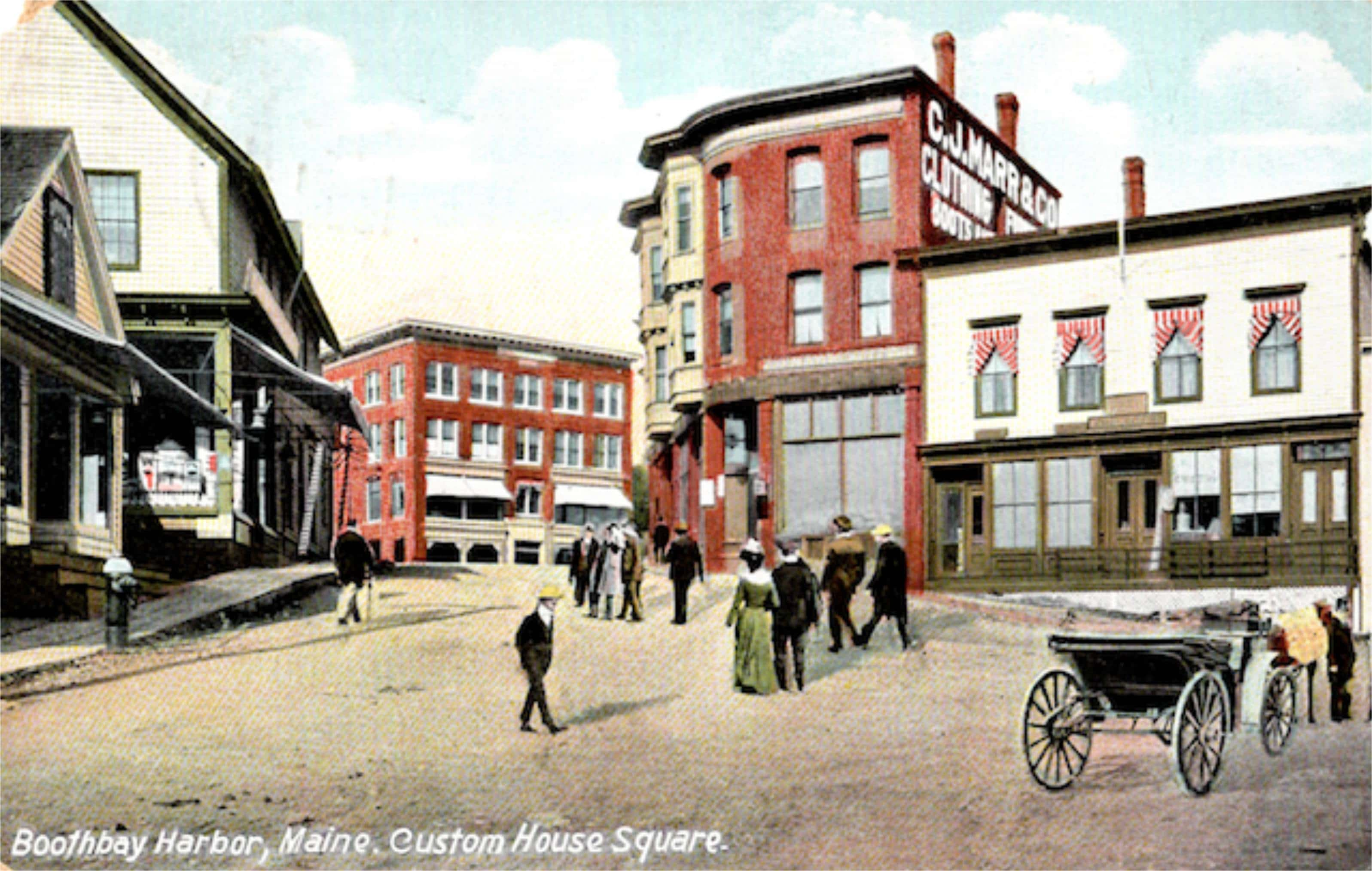 Image Result For Map Of Boothbay Harbor Maine
